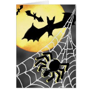 HALLOWEEN SPIDERS & BATS Card