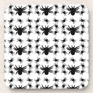 Halloween Spiders Grid Pattern Coaster