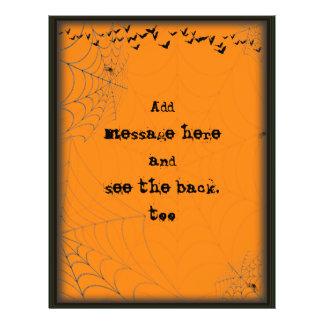Halloween Spiderwebs & Bats Scene Silhouette Flyer