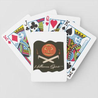 Halloween Spirit Flag Bicycle Playing Cards