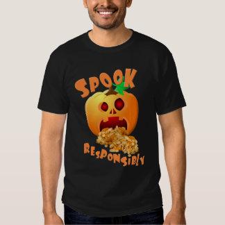 "Halloween ""Spook Responsibly"" Pumpkin Tees"
