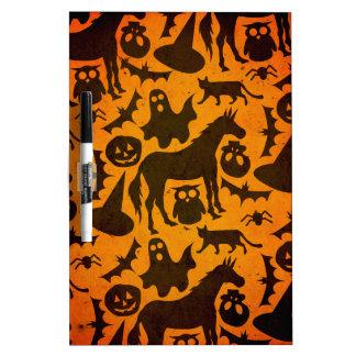 Halloween Spook Unicorn Dry Erase Board