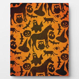 Halloween Spook Unicorn Plaque