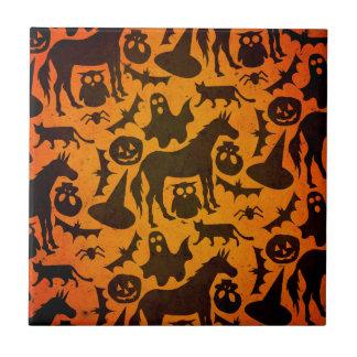 Halloween Spook Unicorn Tile