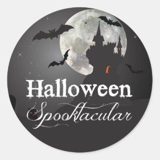 Halloween Spooktacular Haunted Castle Classic Round Sticker