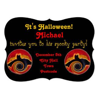 Halloween Spooky Bats in a spin 13 Cm X 18 Cm Invitation Card