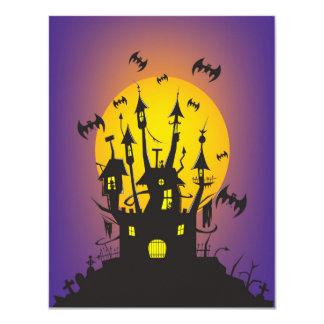 Halloween spooky castle 4.25x5.5 paper invitation card
