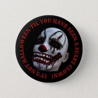 Halloween Spooky Clown Button