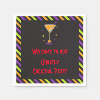 Halloween Spooky Cocktails Party Disposable Napkins