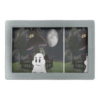 Halloween spooky ghost belt buckle
