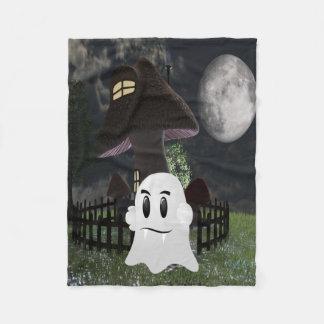 Halloween spooky ghost fleece blanket