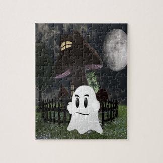 Halloween spooky ghost jigsaw puzzle
