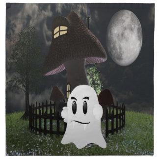 Halloween spooky ghost napkin