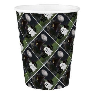Halloween spooky ghost paper cup