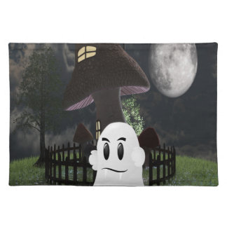Halloween spooky ghost placemat