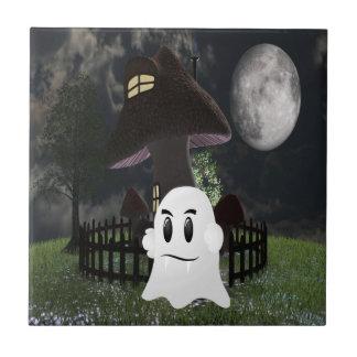 Halloween spooky ghost tile