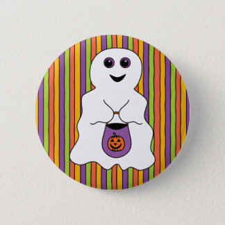 Halloween Spooky Ghost Trick-or-treater 6 Cm Round Badge
