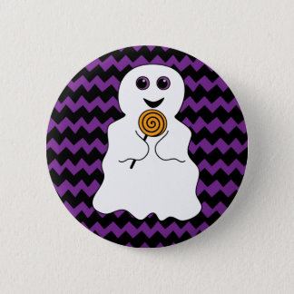 Halloween Spooky Ghost with Lollipop 6 Cm Round Badge