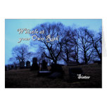 Halloween - Spooky Graveyard, for Sister Greeting Card
