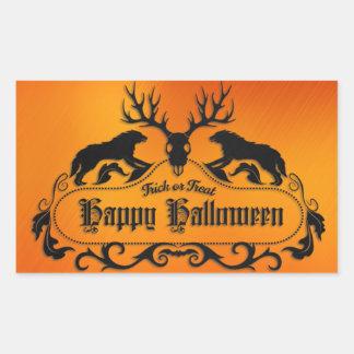 Halloween - Spooky Happy Halloween Rectangular Sticker