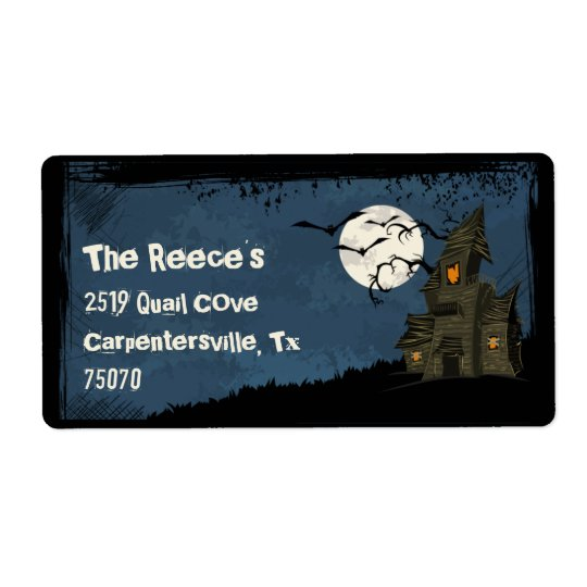 Halloween Spooky Haunted Mansion  Address Labels