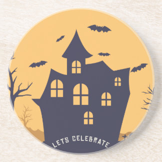 Halloween Spooky Mansion and Bats Coaster