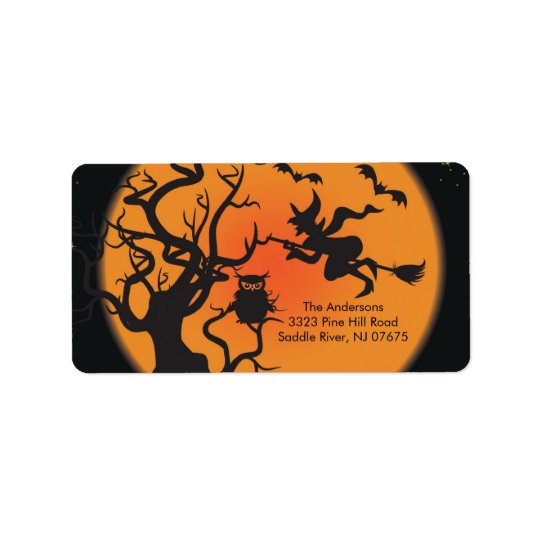 Halloween Spooky Night Return Address Label