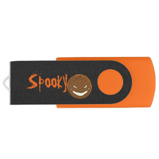Halloween Spooky Pumpkin Orange Trick Treat USB Flash Drive