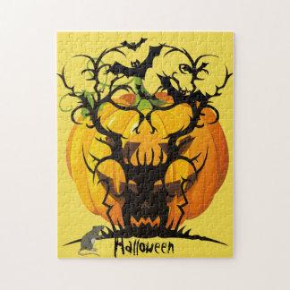 Halloween spooky Tree Jigsaw Puzzle