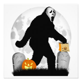 Halloween Squatchin Add Background Color Announcement