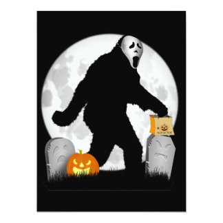 Halloween Squatchin' 17 Cm X 22 Cm Invitation Card