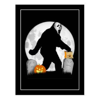 Halloween Squatchin' Postcard