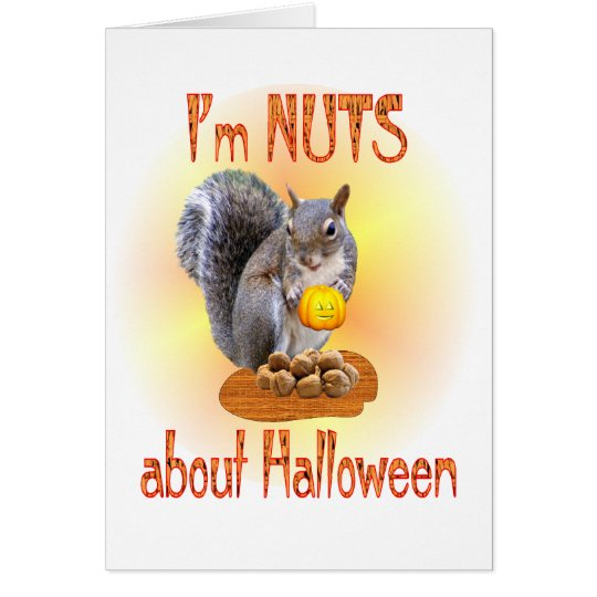Halloween Squirrel Card