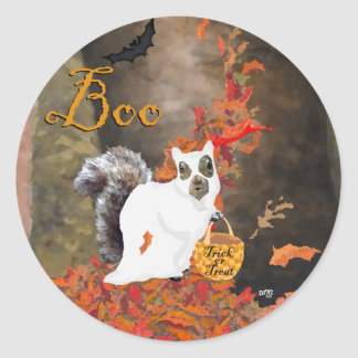 Halloween Squirrel Classic Round Sticker