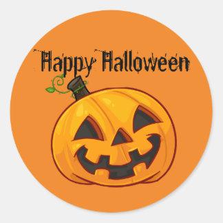 Halloween Sticker, Halloween Pumpkin Classic Round Sticker