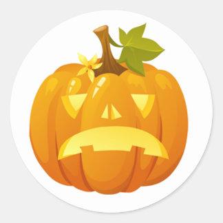 Halloween sticker with a jack-o-lantern