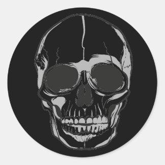 Halloween Stickers-Skull Classic Round Sticker