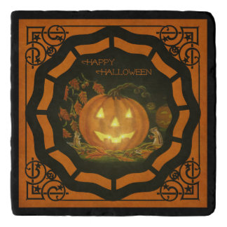 Halloween stone trivet