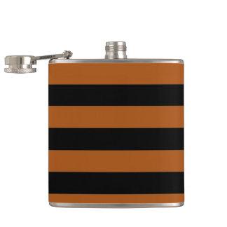 Halloween Stripes Hip Flask