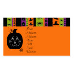 Halloween Stripes Profile Card