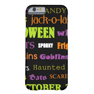 Halloween Subway Art Words Barely There iPhone 6 Case