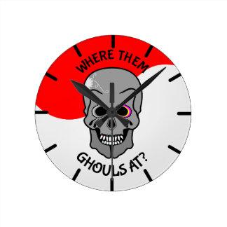 Halloween Sugar Skull Clocks