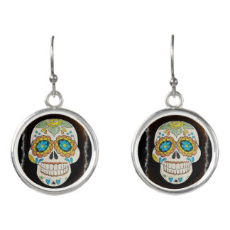 Halloween Sugar Skull Earrings