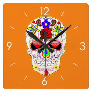 Halloween Sugar Skull - Tattoo Art Wallclock