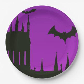 Halloween Sunset Paper Plate