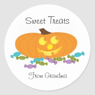 Halloween Sweet Treats with a pumpkin sticker