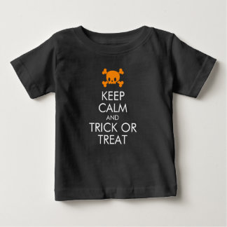 "Halloween T-Shirt: ""Keep Calm and Trick or Treat"" Baby T-Shirt"