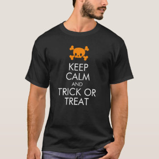 "Halloween T-Shirt: ""Keep Calm and Trick or Treat"" T-Shirt"