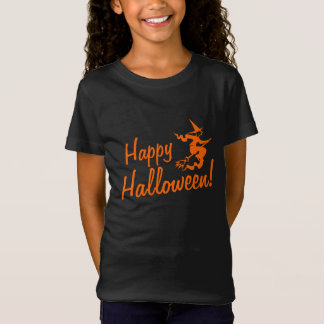 Halloween t shirts for kids | witch on broom