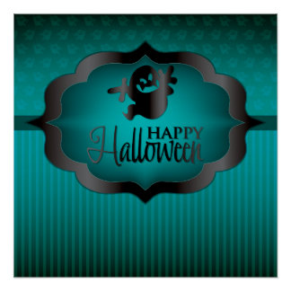 Halloween teal ghost